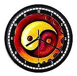 Reloj de pared de plástico Yin y yang