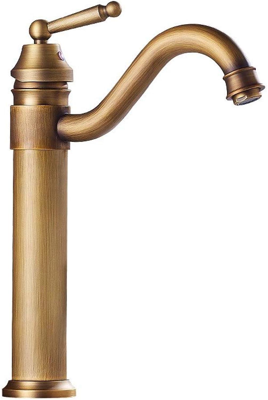 WWFF Vollkupfer Europische Antike Waschbecken Wasserhahn Heie Und Kalte Einloch-Waschbecken Erhhen über Aufsatzbecken Wasserhahn Durable (Style   A)