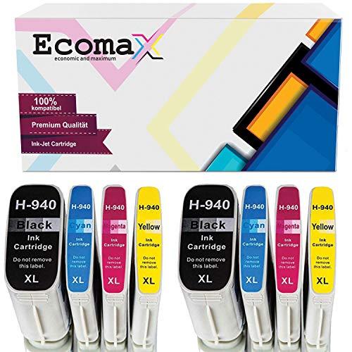 Ecomax 8 Druckerpatronen kompatibel zu HP 940 XL für HP OfficeJet Pro 8000 Enterprise Wireless 8500 Premier 8500A Plus 8500 Wireless