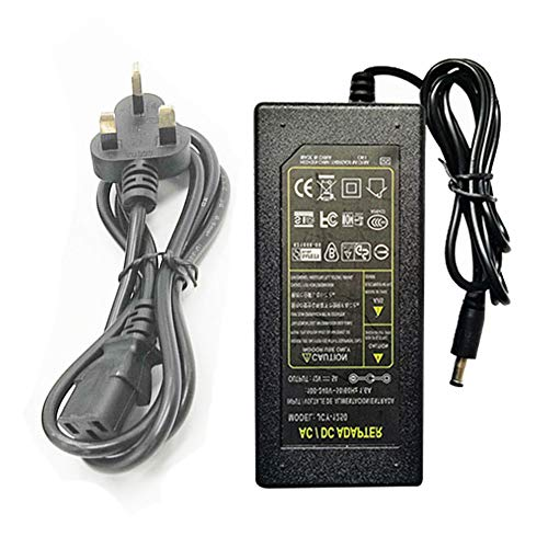 TABEN Plug-in Adaptateur Secteur, Transformateurs, Alimentation pour Bande LED, Sortie 12 V DC, 5 A Max, 36 W Max, Certification UL