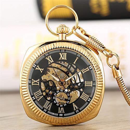 NOBRAND Pocket horloge, antieke mechanische hand-Winding Pocket horloge Romeinse cijfers Display Pocket Hanger Klok met Fob Chain 2019
