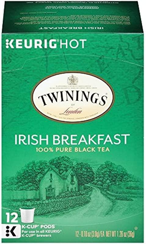 Twinings Of London Irish Breakfast Tea K Cups For Keurig 12 Count Pack Of 6
