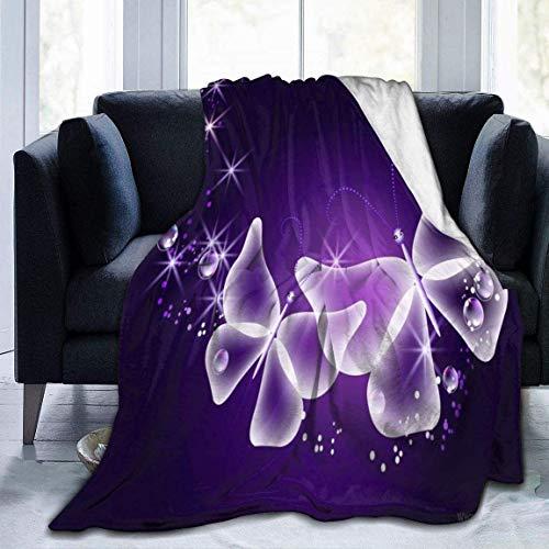 AEMAPE Manta de Tiro de Mariposas, cálida, Suave y Ligera, Manta de Cama para sofá para niños y niñas de 60 x 80 Pulgadas
