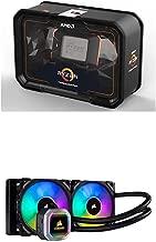 AMD Ryzen Threadripper 2990WX Processor (YD299XAZAFWOF) and Corsair CW-9060039-WW Hydro Series H100i RGB Platinum AIO Liquid CPU Cooler 240mm Radiator Dual ML PRO 120mm RGB PWM Fans Cooling