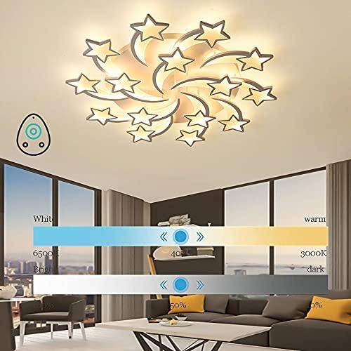DODOBD Lámpara de Techo LED, LED Star de Araña con Mando a Distancia Regulable, Color de luz/Brillo Ajustable, para Dormitorio, Salón, Pasillo [Clase de eficiencia energética A+++]