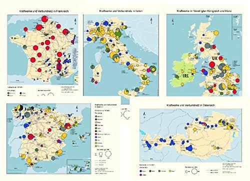 Kraftwerke und Verbundnetze in Europa: BeNeLux-Staaten, Dänemark, Frankreich, Großbritannien und Nordirland, Irland, Italien, Norwegen, Österreich, ... Schweiz, Spanien, Tschechischen Republik,