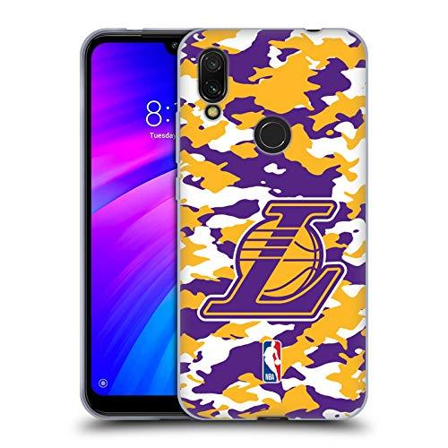 Head Case Designs Oficial NBA Camuflaje 2018/19 Los Angeles Lakers Carcasa de Gel de Silicona Compatible con Xiaomi Redmi 7 (2019)