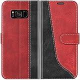 Mulbess Funda para Samsung S8 Plus, Funda con Tapa Samsung Galaxy S8 Plus, Funda Samsung Galaxy S8 Plus Libro, Funda Cartera para Samsung Galaxy S8 Plus Carcasa, Vino Rojo