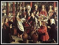 数字油絵数字キット塗り絵 手塗パッケージは、初心者と大人がキャンバスに番号でペイントすることを目的 - The Marriage at Cana by Gerard David