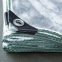 防水ターポリン 透明カーテン 防水シート防水 防風 防塵 雨よけ | ベランダ雨除けカーテン | 防水シート 家庭用 ガーデン屋外用 公共施設 コンビニに適し間仕切り カーテン