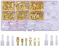平型端子 絶縁スリーブ 340個セット カバー付き 圧着端子 連鎖形 差込 ギボシ端子 セット オス メス セット 配線接続 汎用 防水 修理 加工 自動車 バイク コネクター