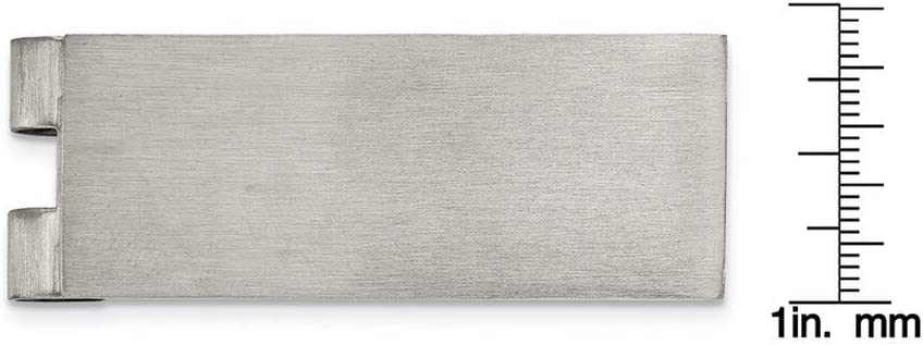 Stainless Steel Brushed Money Clip Men's