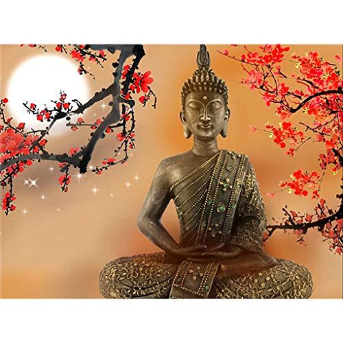 WACYDSD Puzzle 1000 Teile 3D Puzzle Wohnzimmer Wandkunst Blumen Und Buddha Zen Bilder Hdbuddhism Poster Home Decor