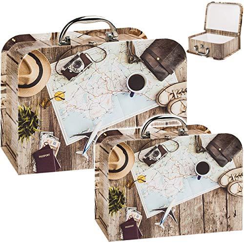 alles-meine.de GmbH Koffer / Kinderkoffer - MITTEL - Reise & Urlaub - 23 cm - ideal für Spielzeug und als Geldgeschenk - Mädchen & Jungen - Pappkoffer - Puppenkoffer - Kinder - P..