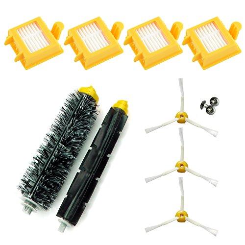 ASP ROBOT- Ensemble de pièces de rechange avec 4x filtres Hepa, 3x brosses latérales, 1x rouleaux centrales et accessoires pour aspirateurs Roomba Série 700 760 765 770 772 775 776 780 782 785 786