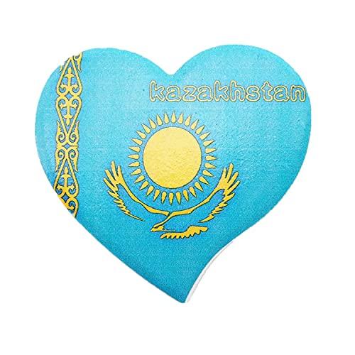 Weekino Flagge Kasachstan Kühlschrankmagnet 3D Polyresin Touristische Stadtreise City Souvenir Collection Geschenk Starker Kühlschrank Aufkleber