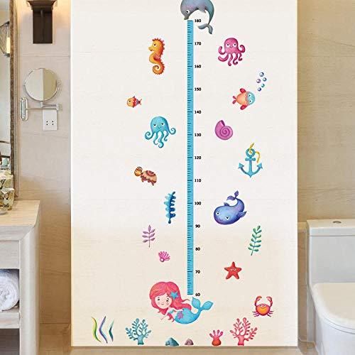 Mermaid Wallpaper Octopus Sea Horse Height Sticker Marine Animal For Living Room Kid Room Window Door Wallpaper