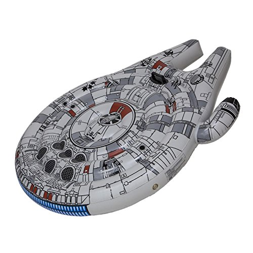 SwimWays Star Wars Millennium Falcon Ride-On Float - Inflatable Novelty Float for Pool