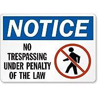 法律の罰則に基づく不法侵入の禁止に注意してください。メタルティンサイン通知通りの交通危険警告耐久性、防水性と防錆性