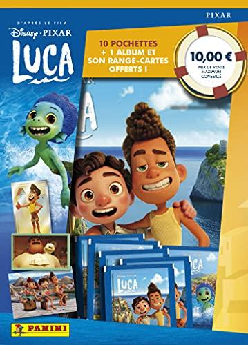 Panini France SA- Luca-Album + Range Cartes + 10 pochettes Tarjetero Fundas, Color, (LSTSP)