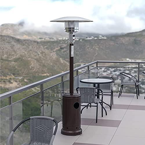 BKWJ Calentador de propano de pie para Exteriores, Calentador de Patio fácil de Instalar, Sistema de Calentamiento rápido, Estufa de Calentador Duradera para Uso Comercial y residencial