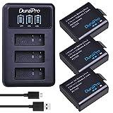 DuraPro 3 Stücke PG1050 Sj4000 Batterie + LED 3 Slots USB Ladegerät für AKASO EK5000 EK7000 SJCAM SJ4000 SJ5000 EKEN M10 4 Karat H8 H9 H9R H8R GIT-LB101 GIT PG900