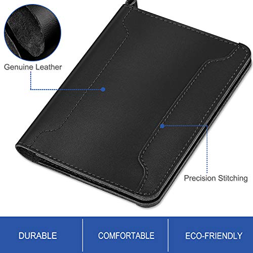 Fintie Passport Holder Travel Wallet - Premium Vegan Leather RFID Blocking Case Cover - Securely Holds Passport, Business Cards, Credit Cards, Boarding Passes, USA-Brown Photo #4