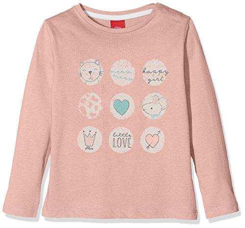 s.Oliver s.Oliver Baby-Mädchen 65.808.31.8139 Langarmshirt, Pink (Dusty Pink 4257), 62