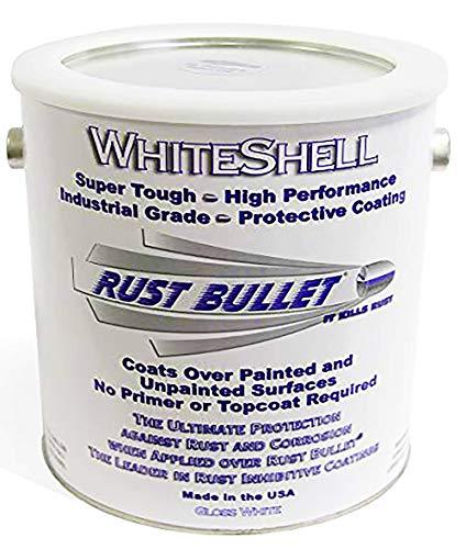 Rust Bullet WhiteShell - Gloss White Rust Preventative Protective Coating, UV Resistant - No Topcoat Needed (Gallon)