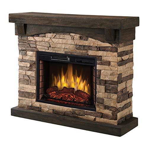 Muskoka 42' Sable Mills Tan Faux Stone Mantel Electric Fireplace