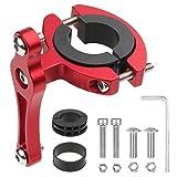 Mostfun Portabidones adaptador de aluminio universal para soporte de botellas de bicicleta, fijación bilateral, manillar de bicicleta, soporte para botellas, color rojo