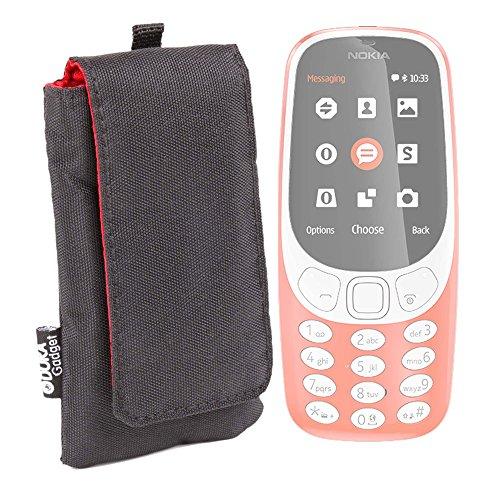 DURAGADGET Housse rembourrée Noir/Rouge pour Nokia 3310 & Version 2017, 130 Dual (RM1035) téléphones Portables - résistant à l'eau