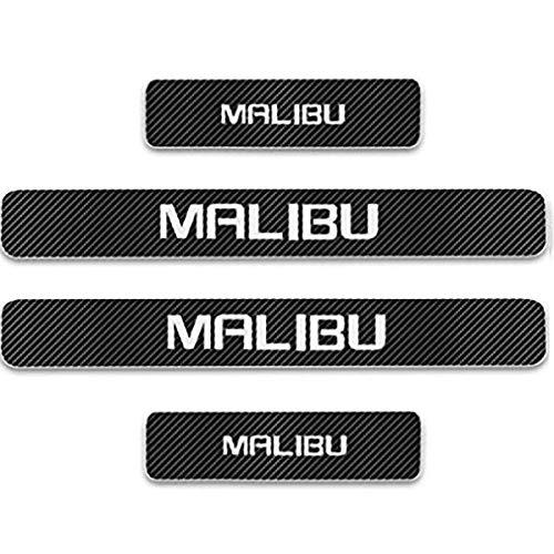 Pegatinas Coche Umbral Puerta Protección Para Chevrolet Malibu, 4 Piezas Fibra Carbono Barra De Umbral Protector Puertas Decorar Accesorios Coche Tuning