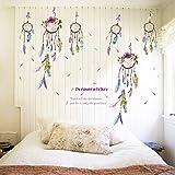 Qingmo Pegatinas decorativas de la pared de la sala de estar del dormitorio del timbre del viento del color
