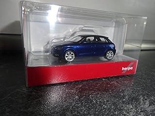 Herpa 034890–002Vehículos Audi A1Sportback, scuba azul metálico , color/modelo surtido