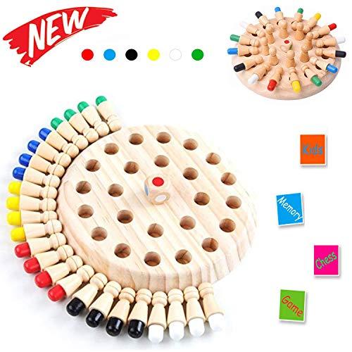 Sunshine smile Memory Match Stick Schach,Memory Schach Holz,hölzernes gedächtnis-Schach,gedächtnis-Schach,schachspiel lernspielzeug,gedächtnisschach,Schachbrett Spielzeug,gedächtnis-schachspiel