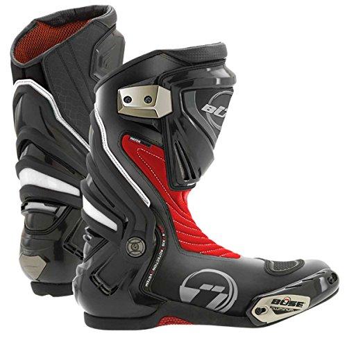 Büse GP Pro Sport Motorradstiefel, Farbe rot, Größe 45