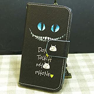Don't Touch My Phone OWL Rose Flower Cat Love Fish Wallet Stander Flip case cover for Sony Xperia ZL L35H C6502 C6503 C6506 (Don't Touch 2)