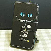 Don't Touch My Phone OWL Rose Flower Cat Love Fish Wallet Stander Flip case cover for Samsung Galaxy Note I9220 N7000 (Don't Touch 2)