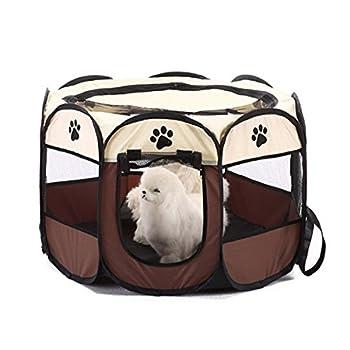 TOOGOO Portable pliant Animaux de compagnie tente chien maison cage chien chat tente parc chiot chenil operation facile octogonale cloture #A