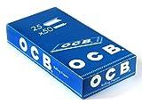 OCB Blau Kurz - Rolling Papers - Drehpapier - Blättchen -25 Heftchen a 50 Blatt