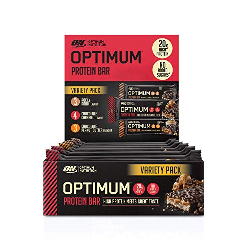 Optimum Nutrition Protein Bar with Whey Protein Isolate, Low Carb High Protein Snacks with No Added Sugar, Mix Box, 10 Bar (10 x 60 g)