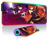 Alfombrillas de ratón Juegos Retroiluminación RGB Anime Grande...