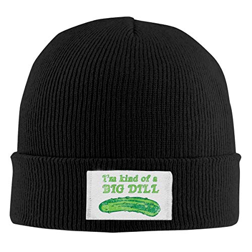Art von Big Dill Pickles Stretchy Hut Beanies Cap Fashion Unisex Winter Black