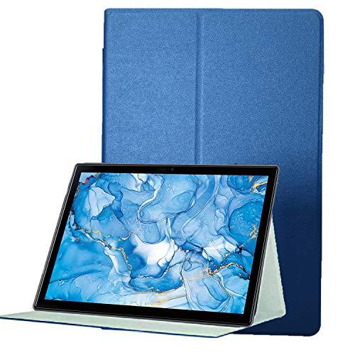 【2020新品】Dragon Touch タブレット 10.1インチ NotePad 102ケース タブレット ケース【YML】超薄型 超軽量 高級感 PU レザー ケース 耐衝撃 キズ防止 スタンド機能付き 全面保護型 Dragon Touch NotePad 102 専用 スマートカバー(バー ブルー)