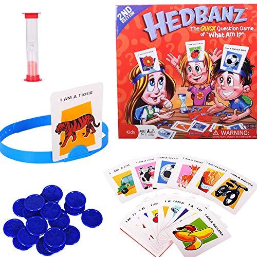 Yisily Gesellschaftsspiel,was Bin Ich Familie Kartenspiel für Kinder, Hedbanz Spiel Raten, Wer Ich Bin Spiel Familie Brettspiel Disney Charaktere Kartenspiel Spielzeug Schnelle Frage Kartenspiel