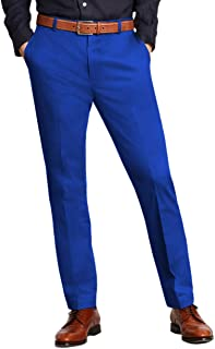 Brooks Brothers Mens Milano Fit Stretch Advantage Chinos Pants Royal Blue
