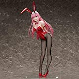 LIFHl 43CM Anime Darling in The FRANXX National Team Zero Two 02 1/4 Bunny Girl PVC Figure Collectible Cosplay Model Decoration PVC Action Figure Toy Collectible Figurines