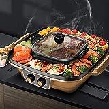 Barbecue électrique portatif sans fumée au barbecue intérieur, Barbecue électrique Table à réchaud intérieur Chafing Dish...