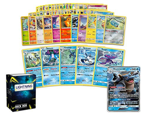 Pokemon Water Collection - 50 Pokemon Cards Plus 5 Rare Water Pokemon...